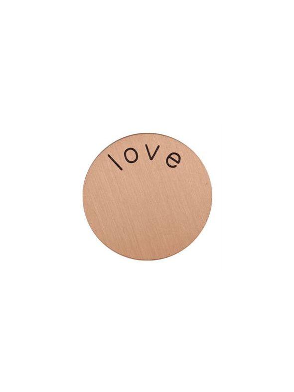 'Love' Mini Rose Gold Coin
