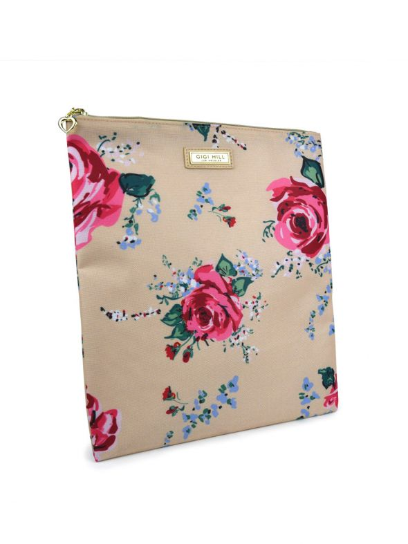 Large Scarlett Antique Floral Multi-Functional Pouch