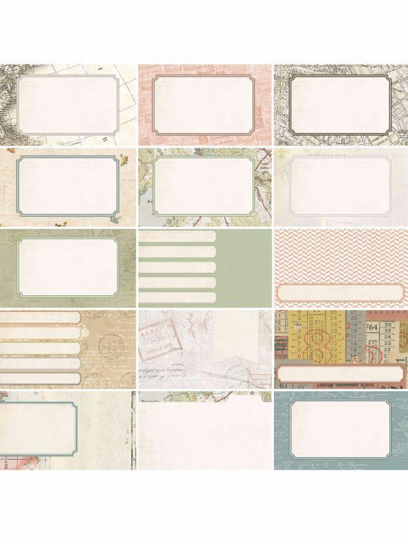 Pocket Vintage  by Katie Pertiet Pocket Journal Cards - Set 30